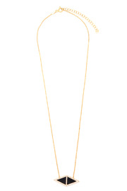 Tselaine Double Triangle Necklace - Front full body