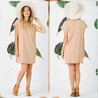 Shoptiques Blush Tee Dress