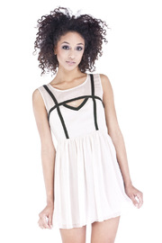 Shoptiques Product: Nude Chiffon Dress
