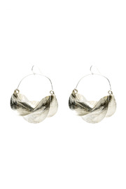 Zia Fulani Silver Earrings - Front cropped
