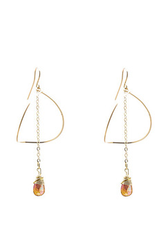 Shoptiques Product: Luna Gold Earrings