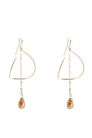 ZIA Boutique Luna Gold Earrings - Product Mini Image
