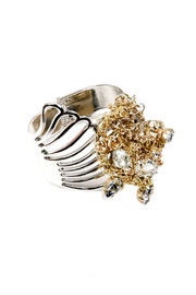 Shoptiques Product: Silver Crystal Cuff
