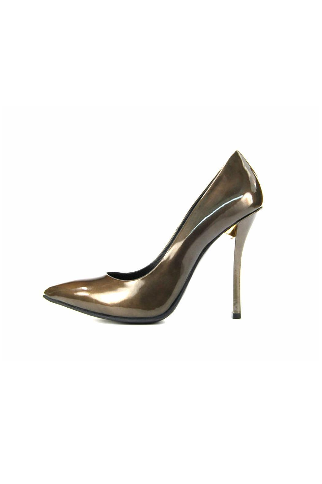Baldan Patent Pointed Pump - Front Cropped Image