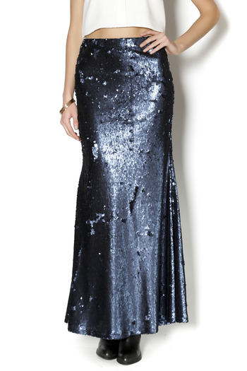 line dot sequin maxi skirt from florida by fresh