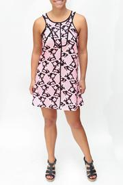 Wish Collection Pink & Black Dress - Front cropped