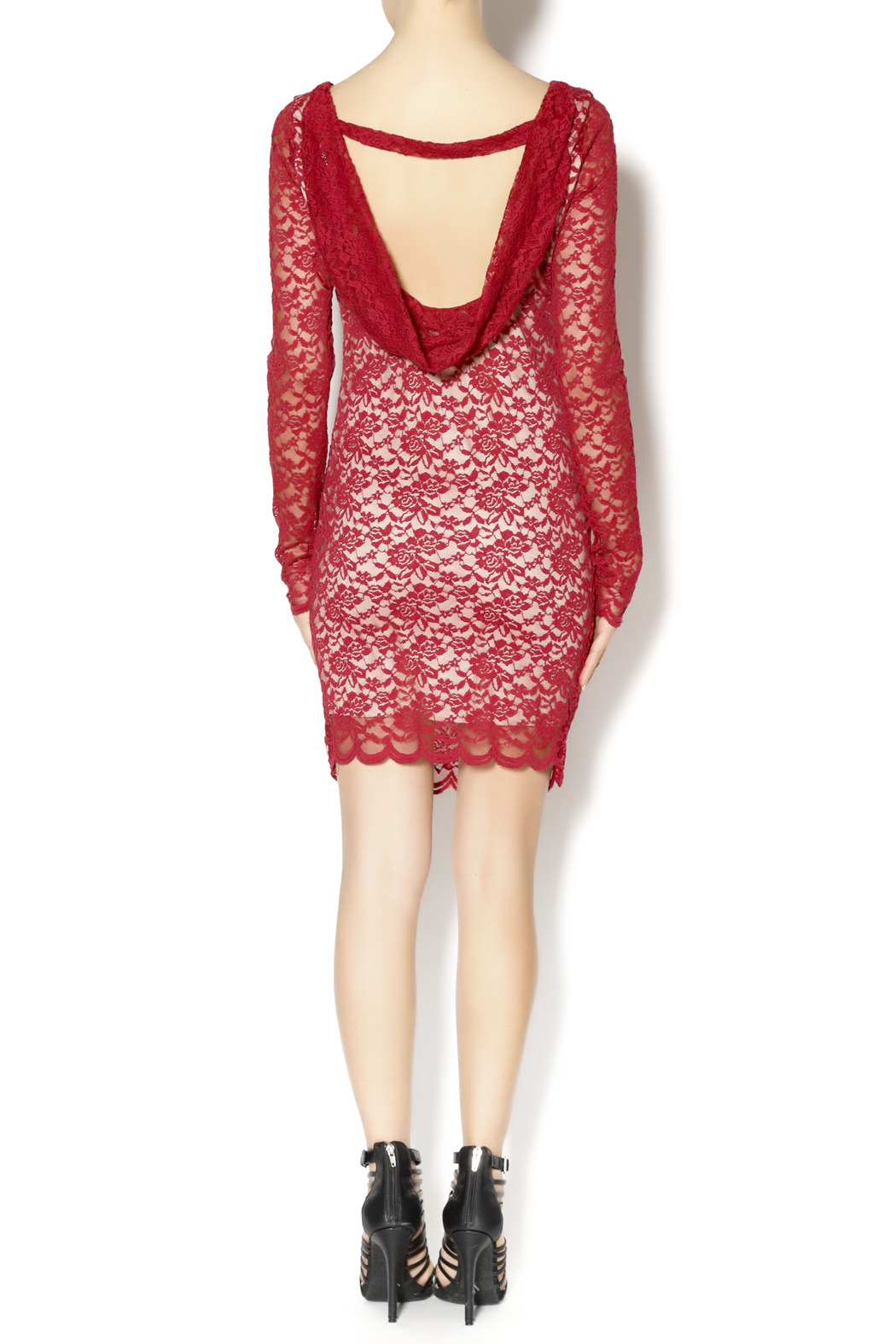 Double Zero Shiraz Lace Dress - Side Cropped Image