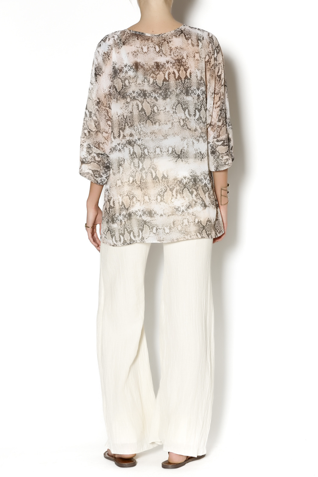 Julian Chang Snake Print Tunic - Side Cropped Image