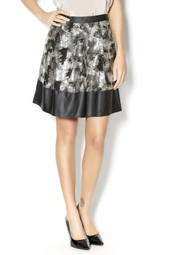 Ark & Co. Pleated Leather Sequin Skirt - Product List Image