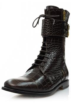 A. Bottega  Brown Lace-Up Booties - Product List Image