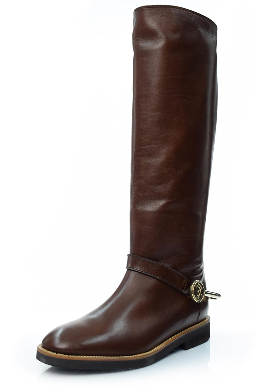 A. Bottega  Cherry Riding Boot - Front Cropped Image