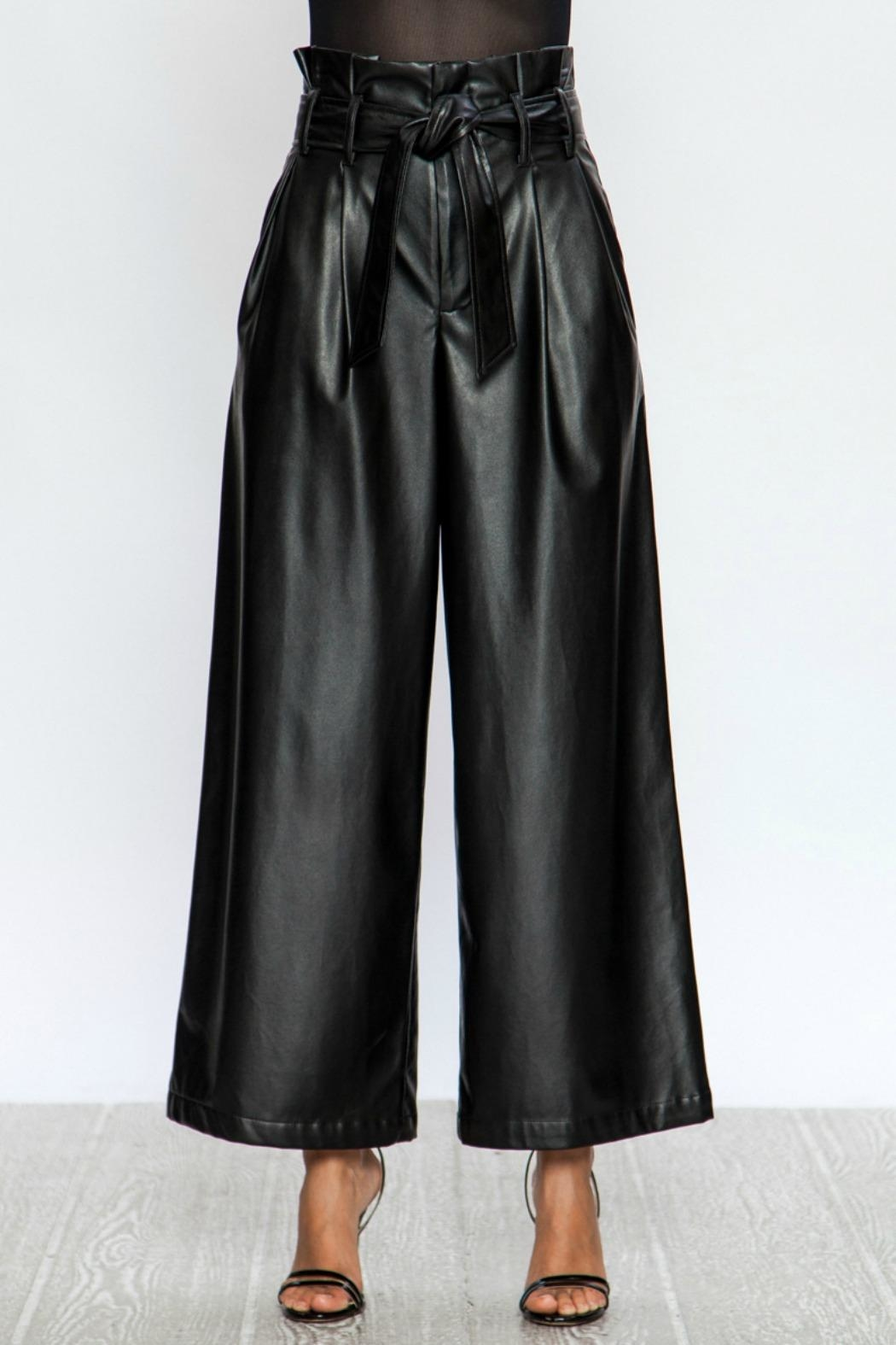 A. Calin Faux Wides Pants - Back Cropped Image
