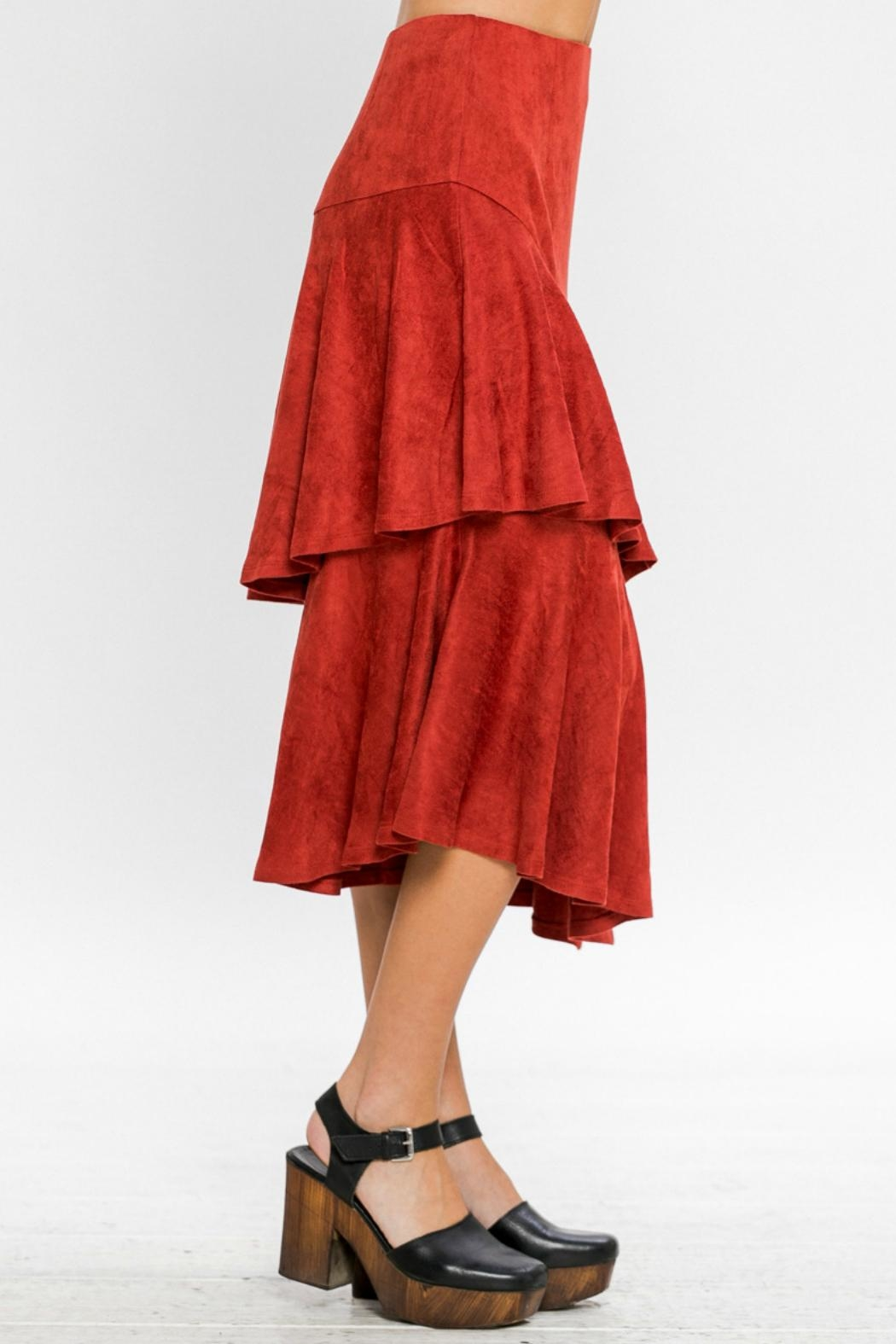 A. Calin Tiered Ruffle Skirt - Side Cropped Image