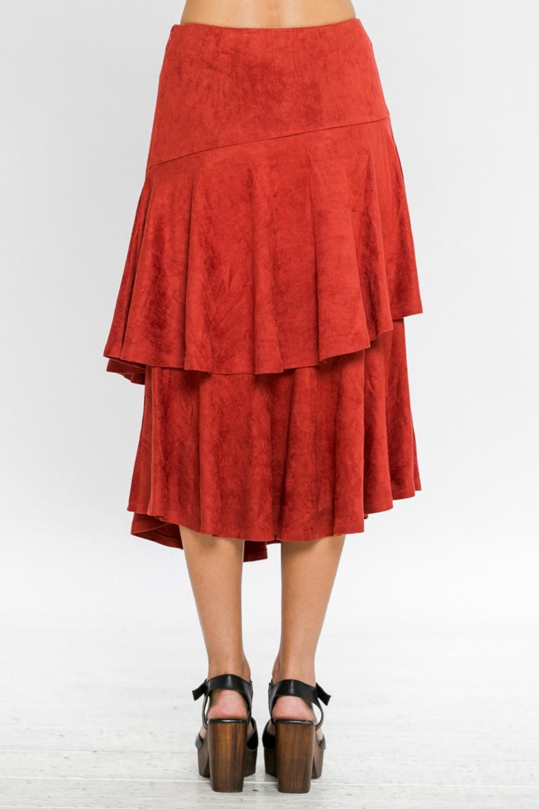 A. Calin Tiered Ruffle Skirt - Back Cropped Image