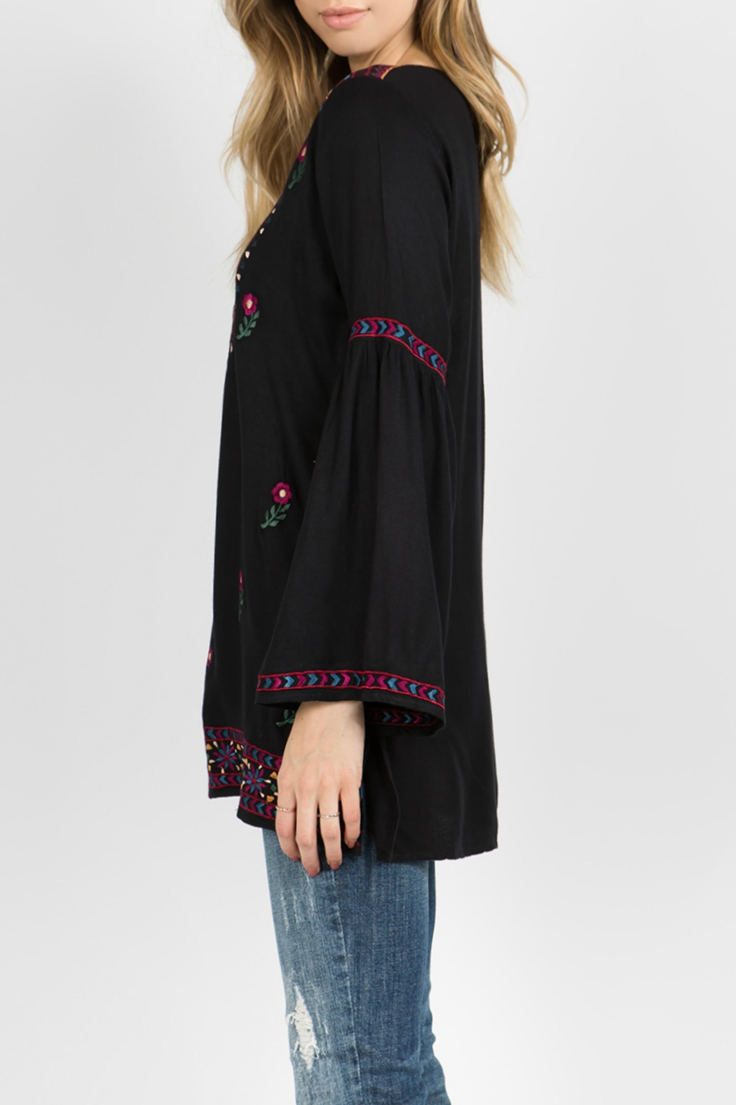 A&A Embroidered Bell Tunic - Side Cropped Image