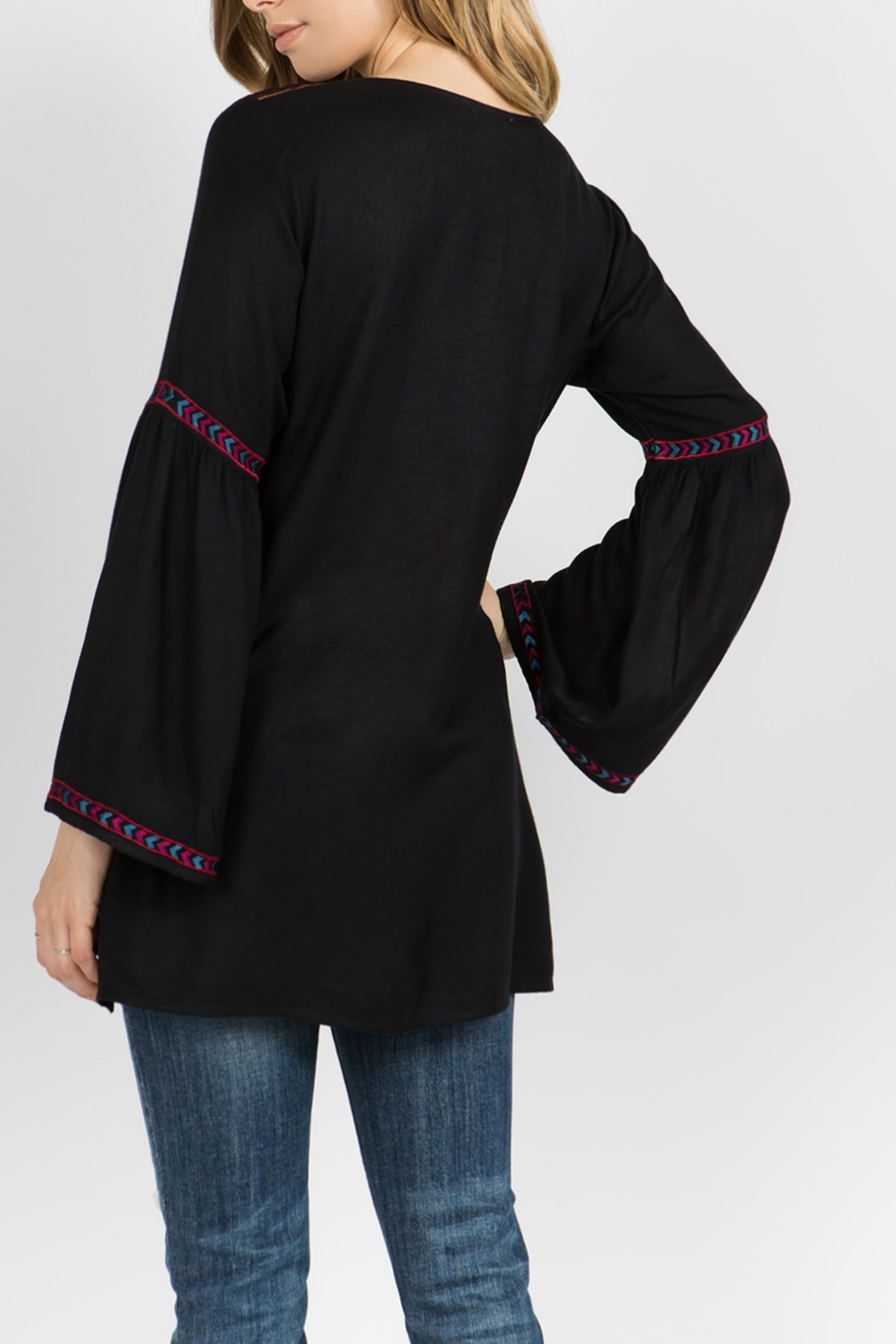A&A Embroidered Bell Tunic - Front Full Image