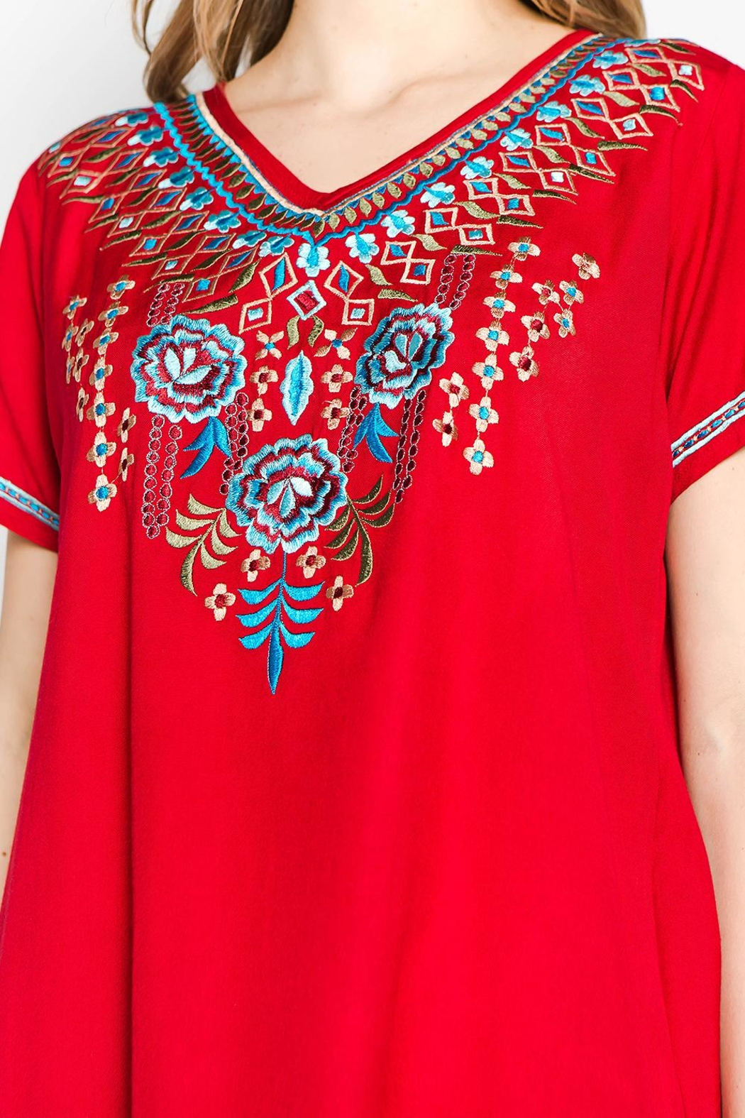 A&A Embroidered Bliss Tunic - Back Cropped Image