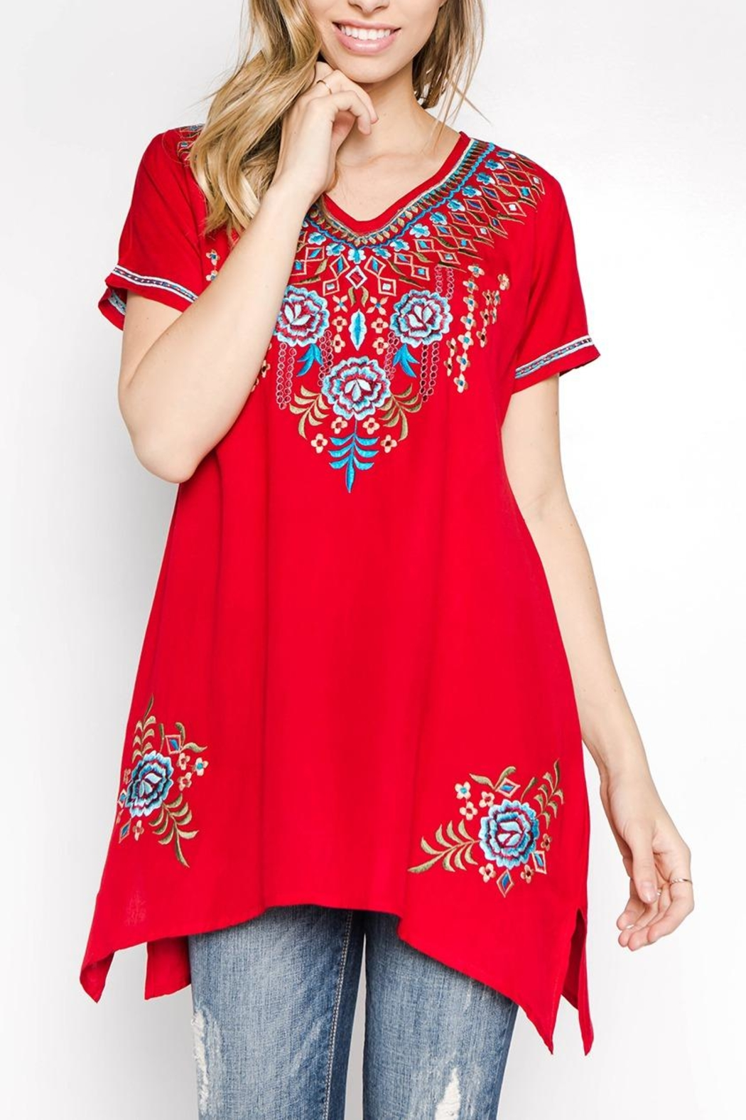 A&A Embroidered Bliss Tunic - Main Image