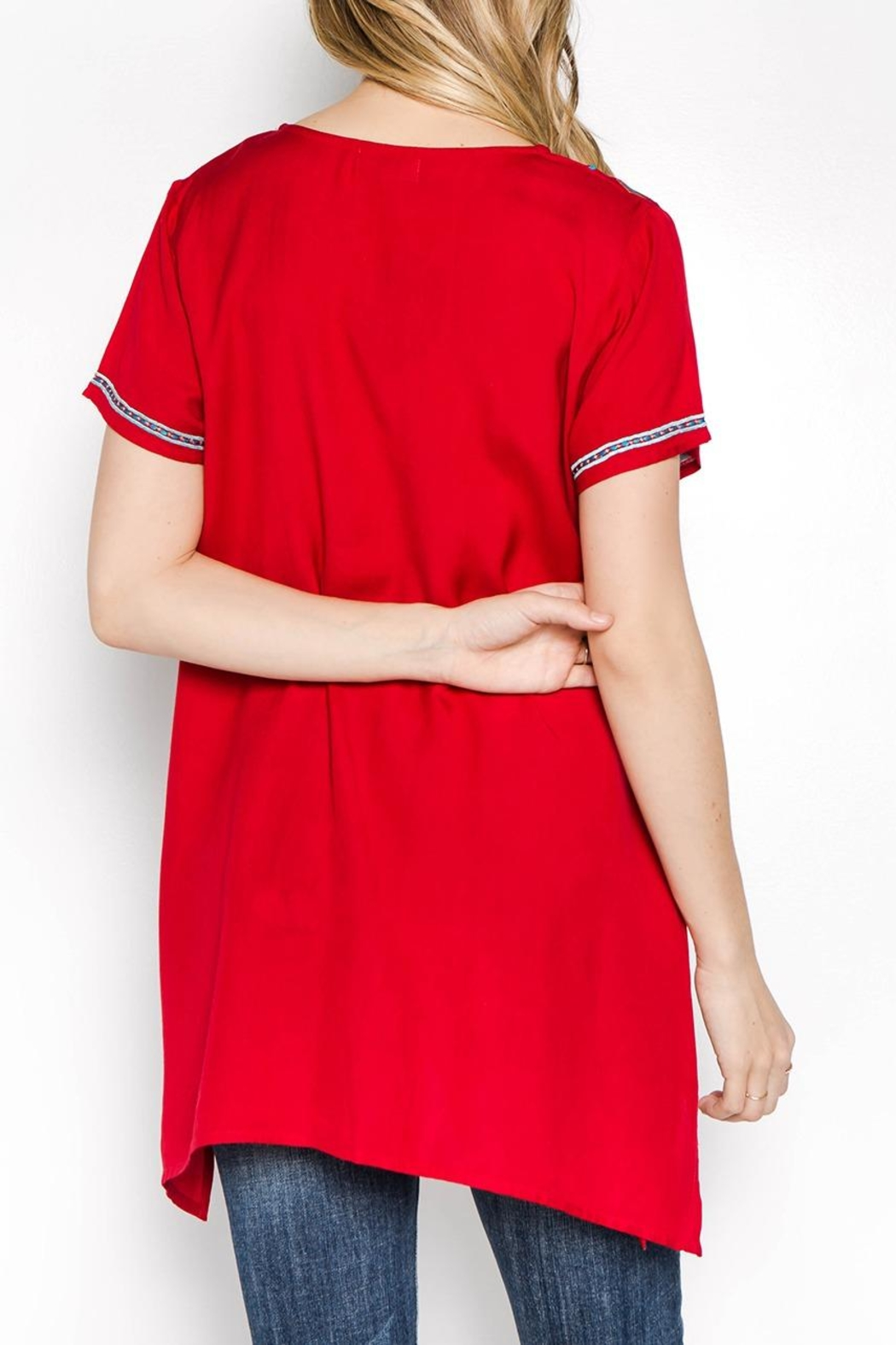 A&A Embroidered Bliss Tunic - Side Cropped Image