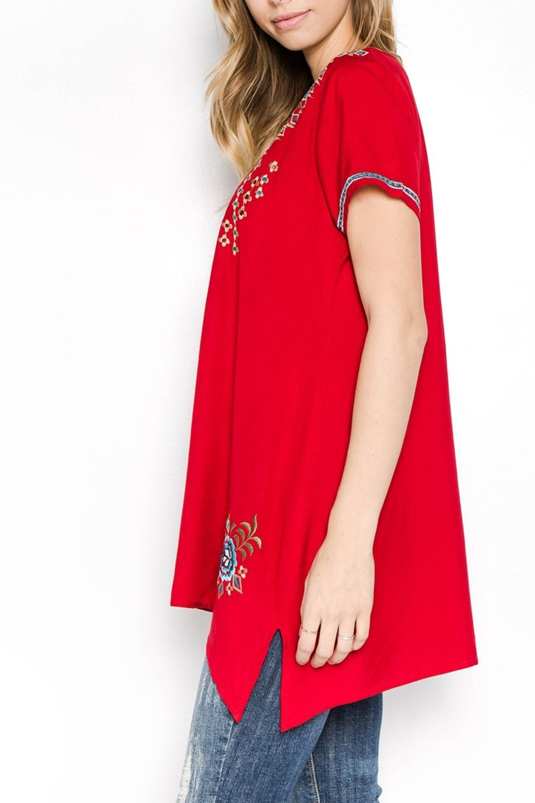 A&A Embroidered Bliss Tunic - Front Full Image