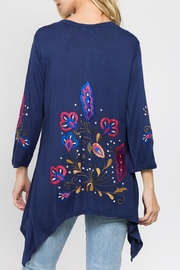 A&A Embroidered Knit Top - Product Mini Image