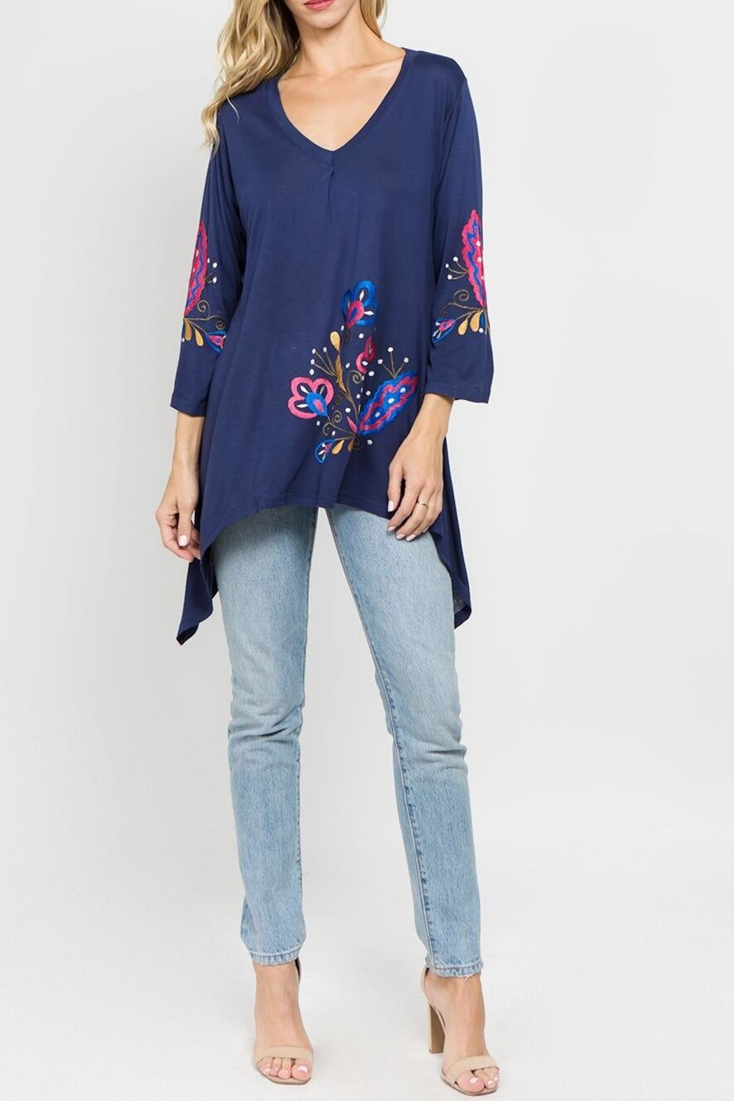 A&A Embroidered Knit Top - Front Full Image