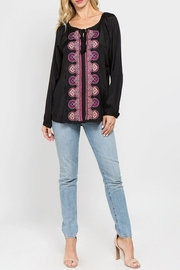 A&A Embroidered Peasant Blouse - Front full body