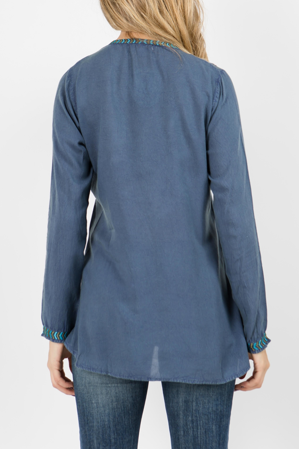 A&A Embroidered Tie Top - Side Cropped Image