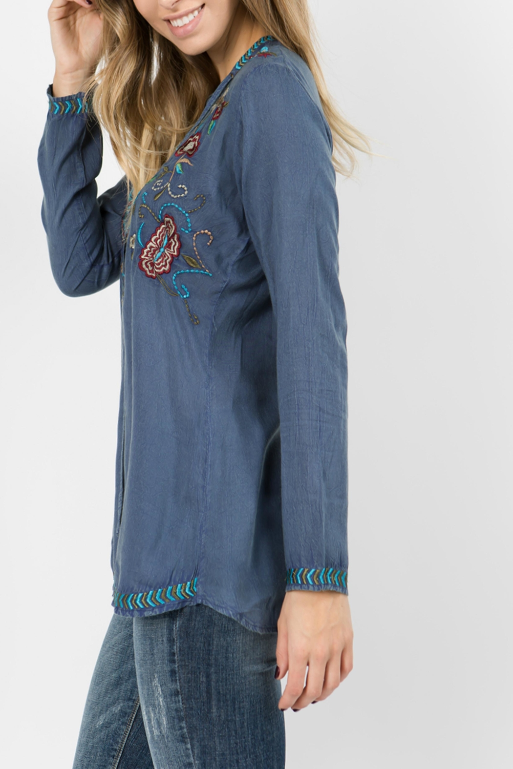 A&A Embroidered Tie Top - Front Full Image
