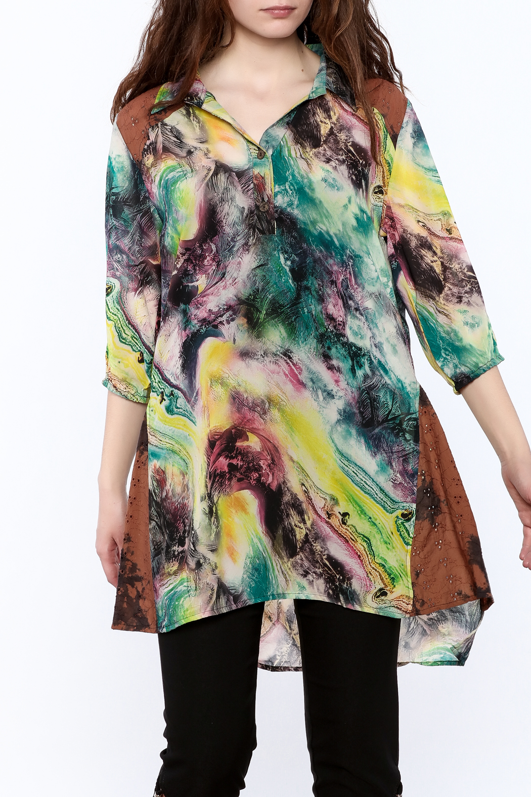 A&A Colorful Tunic Top - Main Image