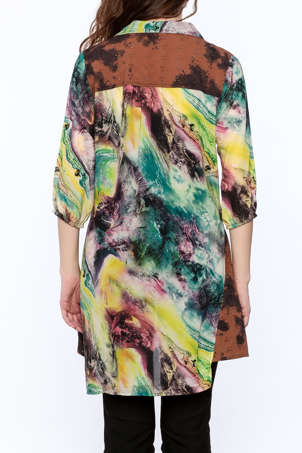 A&A Colorful Tunic Top - Back Cropped Image