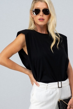 Trend Notes  A&A Shoulder Pad Tee - Alternate List Image