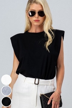 Trend Notes  A&A Shoulder Pad Tee - Product List Image