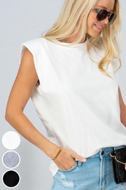 Trend Notes  A&A Shoulder Pad Tee - Front cropped