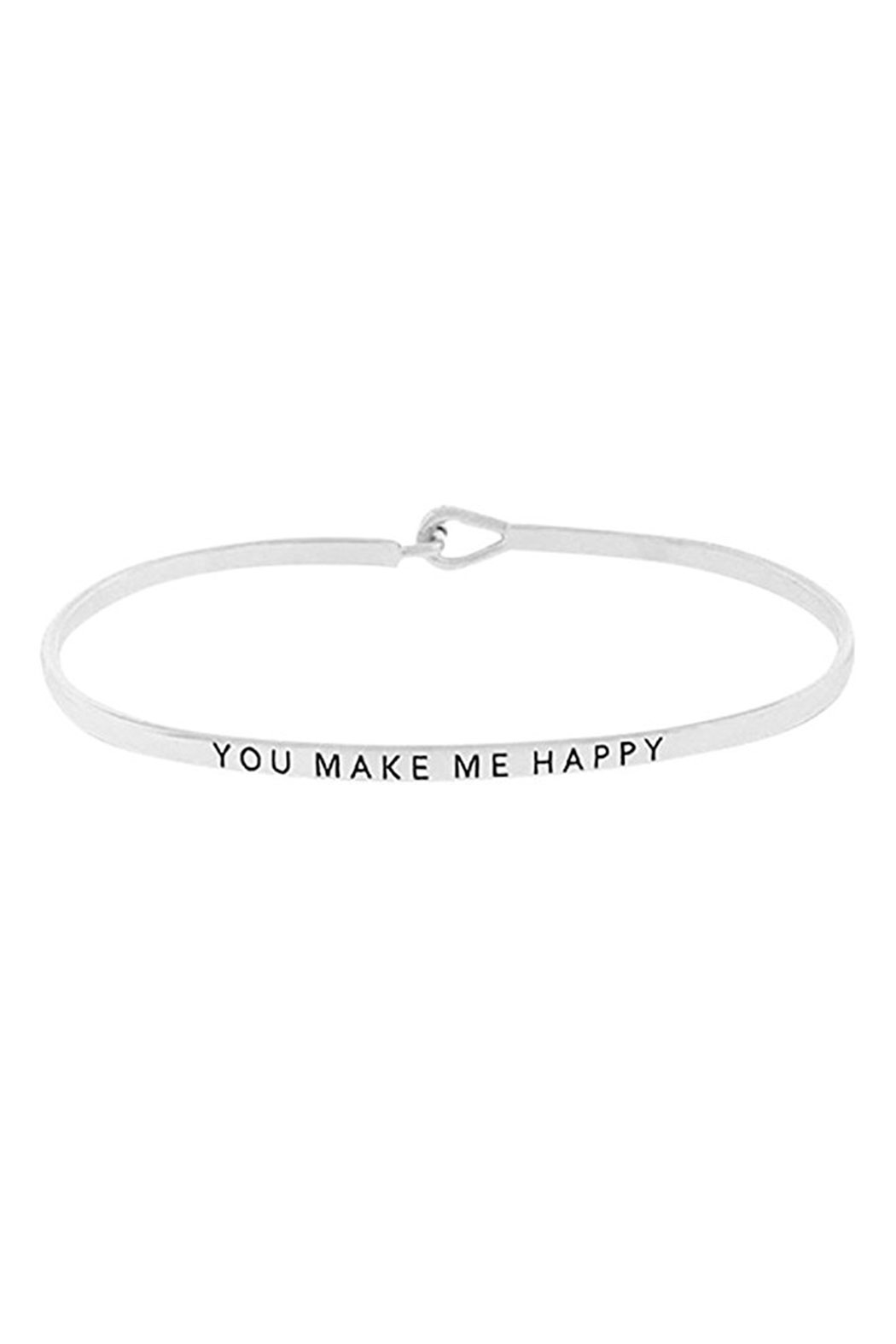 A&B Home Make Me Happy Bracelet - Front Cropped Image