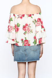 A. Calin Floral Off Shoulder Top - Back cropped