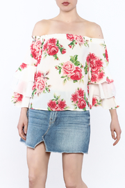 A. Calin Floral Off Shoulder Top - Front cropped