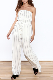 A. Calin Ivory Striped Jumpsuit - Product Mini Image