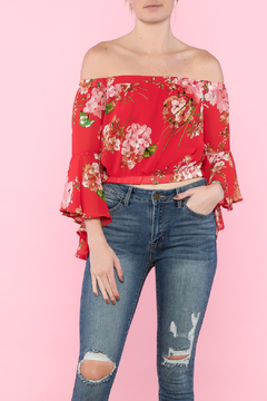 Shoptiques Product: Floral Off-Shoulder Top