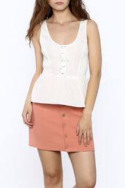 A. Calin White Sleeveless Tank Top - Product Mini Image