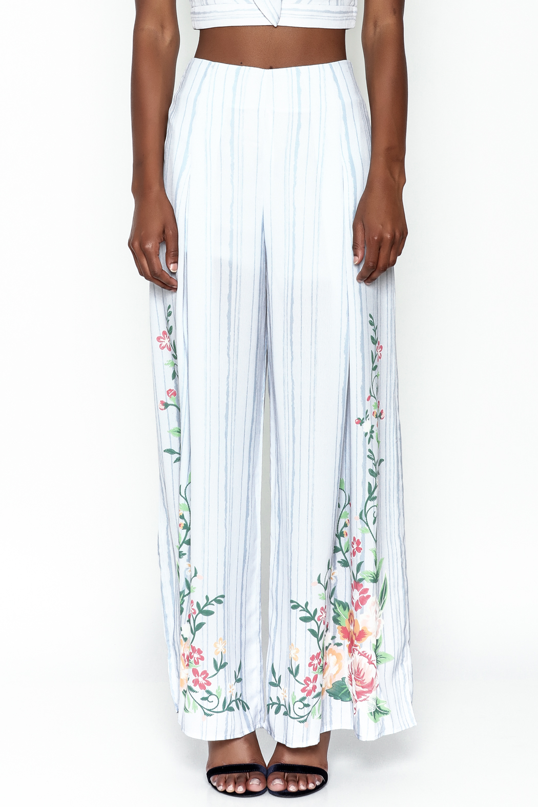 A. Calin Wide Leg Pants - Front Full Image