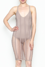 A Ellen Mesh Bodysuit Dress - Side cropped