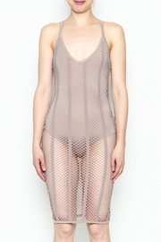 A Ellen Mesh Bodysuit Dress - Front cropped