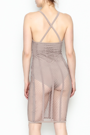 A Ellen Mesh Bodysuit Dress - Back cropped