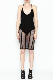 A Ellen Mesh Bodysuit Dress - Front full body