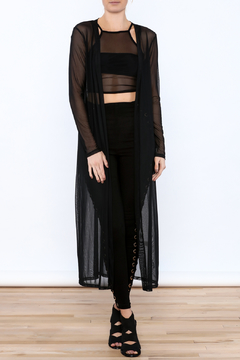 Shoptiques Product: Black Mesh Cardigan