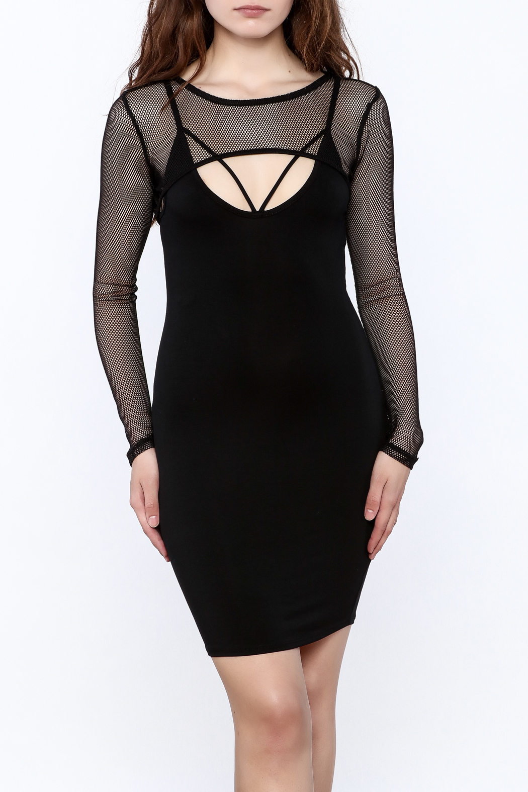 A Ellen Sexy Black Bodycon Dress - Main Image