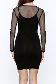 A Ellen Sexy Black Bodycon Dress - Back cropped