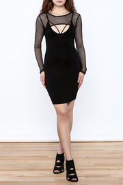 A Ellen Sexy Black Bodycon Dress - Front full body