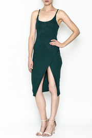 A Ellen Ribbed Midi Dress - Front cropped